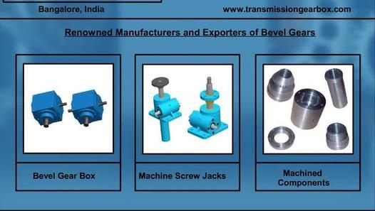 http://www.transmissiongearbox.com - Bevel Gear Manufacturer and Exporter in Bangalore, India. We manufacture and export a wide range of Bevel Gears that are manufactured using high quality components and technological features. We have a wide range of Bevel Gearboxes available for continuous applications for power transmission. Bevel Gears are offered in both standard and customized versions according to the client requirements. Advance Transmissions, India.