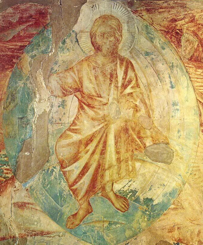 Христос. Апокалипсис.Чимабуэ. 1280-83 гг. Верхняя церковь в Ассизи.
