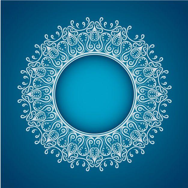 Skachivajte Belaya Mandala Na Sinem Fone Besplatno Islamskie Uzory Ne Imeyushij Vektora Sinij Fon