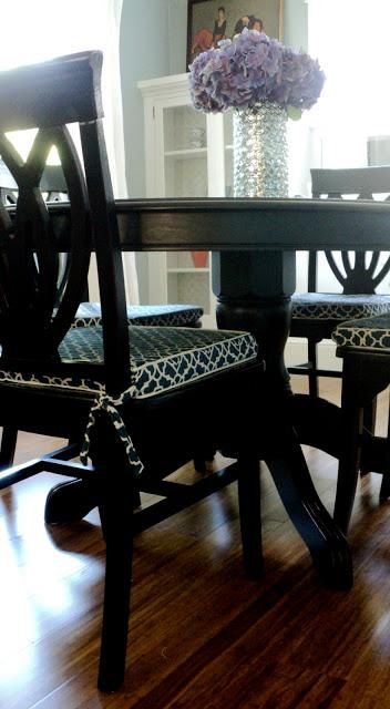 25 best ideas about dining room chair cushions on pinterest repurposed furniture refurbished. Black Bedroom Furniture Sets. Home Design Ideas