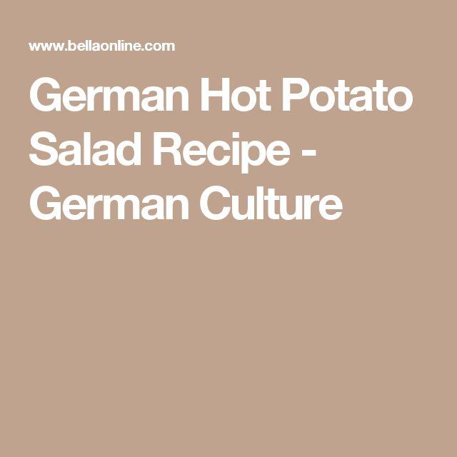 German Hot Potato Salad Recipe - German Culture