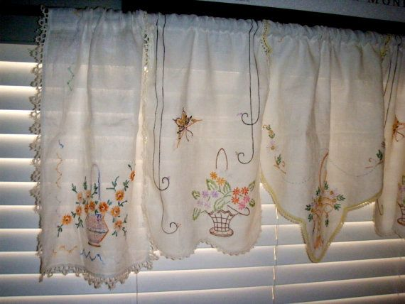 Cottage Chic Window Valance Made from by SweetRepeatVintage, $24.95