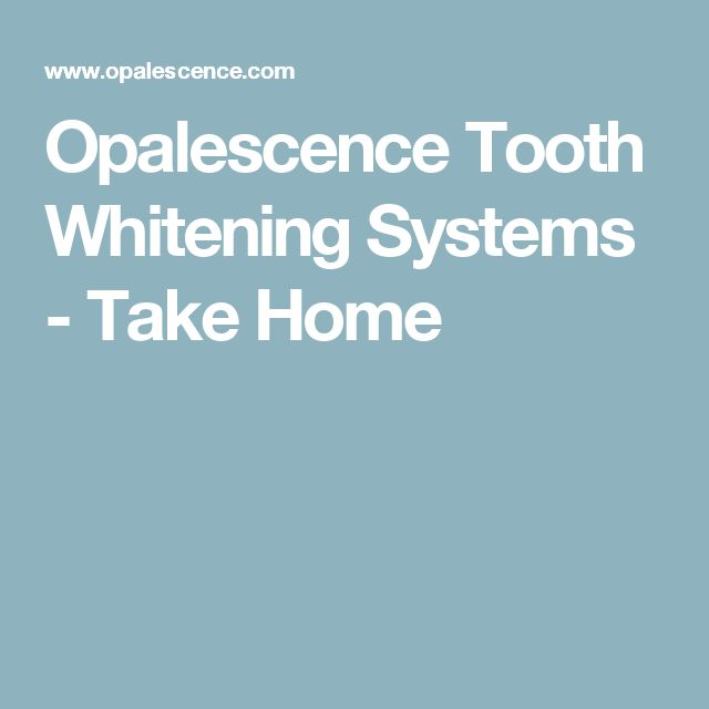Opalescence Tooth Whitening Systems - Take Home
