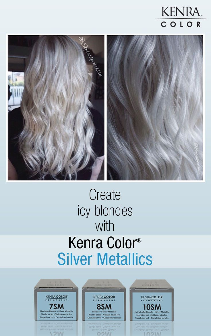 white hair with kenra silver metallic 10sm - Google Search