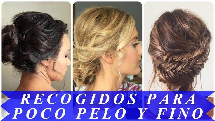 Formas de moda también peinados para pelo fino y escaso Colección de cortes de pelo estilo - Recogidos para pelo fino y escaso mujer   Recogidos para ...