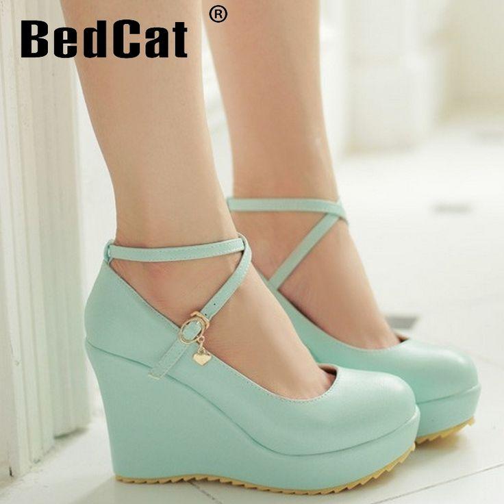 Mulheres cunha sapatos de salto alto sexy calçados de salto alto bombas sapatos de salto de moda primavera 34   43 P16436 em Bombas das mulheres de Sapatos no AliExpress.com | Alibaba Group