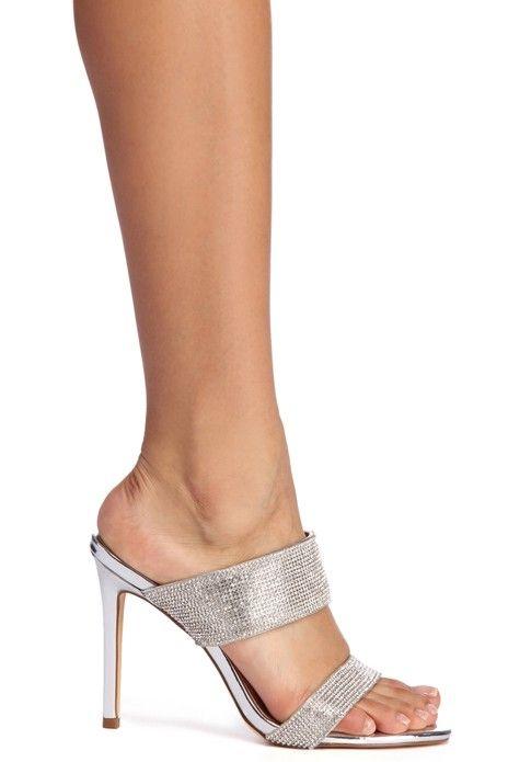 3534c007ce Slip On Glam Rhinestone Heels in 2019 | shoes | Rhinestone heels ...