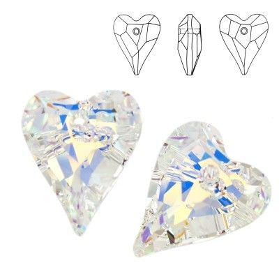 6240 Wild Heart 17mm Crystal AB  Dimensions: 17,0 mm Colour: Crystal AB 1 package = 1 piece