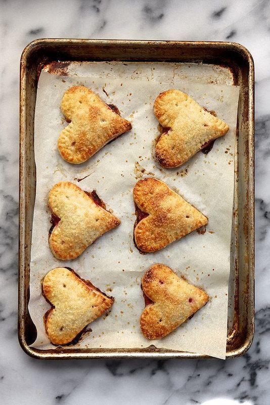 Lemon Raspberry Pie Crust Hearts from Joy the Baker
