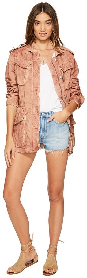 Free People Double Cloth Military Jacket Women's Coat