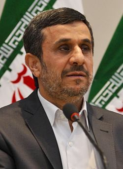 """Mahmoud Ahmadinejad (1956 - ) the sixth President of Iran from 2005 to 2013. In September 2010, Ahmadinejad sparked controversy at the 65th session of the United Nations General Assembly by claiming that most people believe the United States government was behind the 9/11 attacks and later called for an inquiry, stating: """"The fact-finding mission can shed light on who the perpetrators were, who is al-Qaeda... where does it exist? Who was it backed by and supported? All these should come to…"""