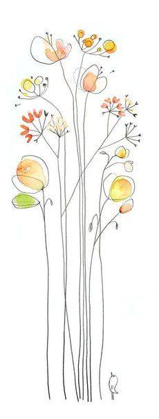黒い線の花(参考)