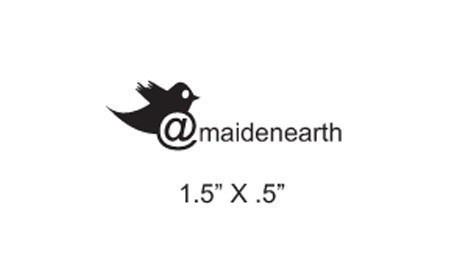 Twitter custom rubber stamp