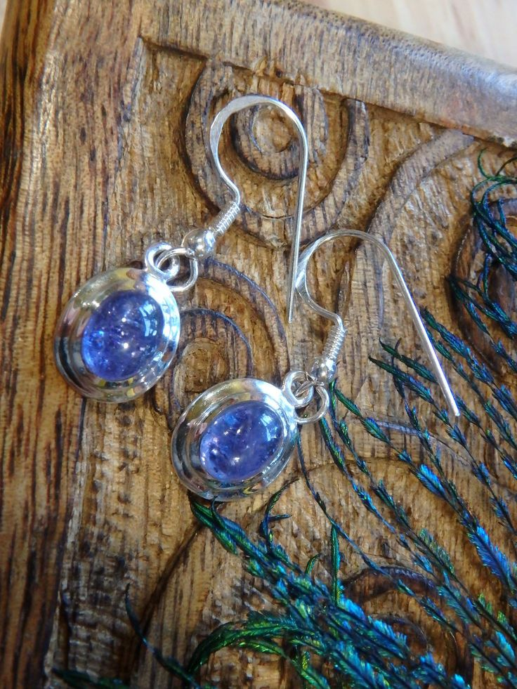 ~RARE GORGEOUS PURPLE TANZANITE EARRINGS~  NEW in The SHOP HERE====>