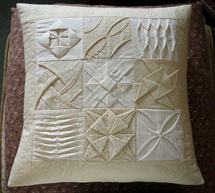 sudoko cushion  - fabric manipulation
