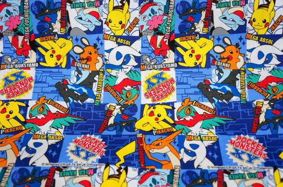 Hey, I found this really awesome Etsy listing at https://www.etsy.com/listing/211649821/pokemon-fabric-pikachu-196-inch-by-21