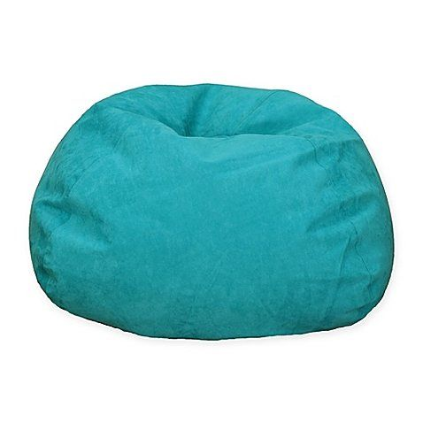 Large Microsuede Bean Bag Available In Multiple Colors Blue