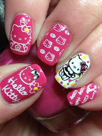 55 best hello kitty nails images on pinterest hello kitty nails 20 cute hello kitty nail art designs page 3 of 20 beautyhihi prinsesfo Choice Image