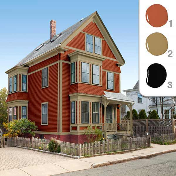 Picking the Perfect Exterior Paint Colors | Red color schemes ...
