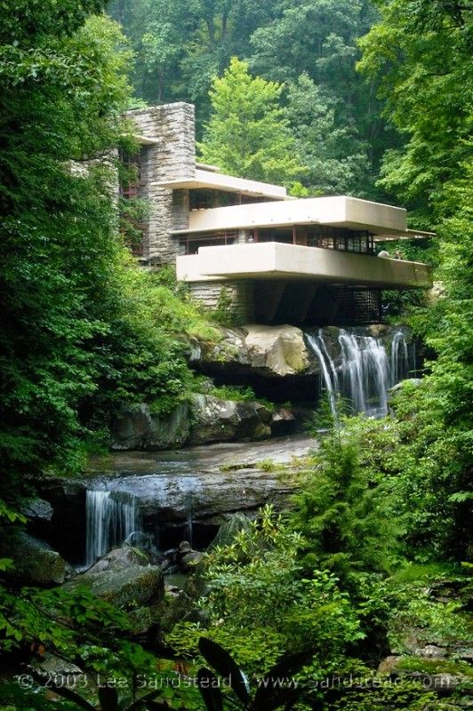 Falling Water by Frank Lloyd Wright in PA.  You really have to visit & experience it in person!