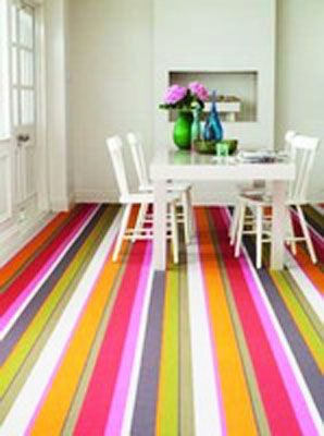 Striped Coloured Carpet Love This Look And It Can Be Achieved With Tiles Too