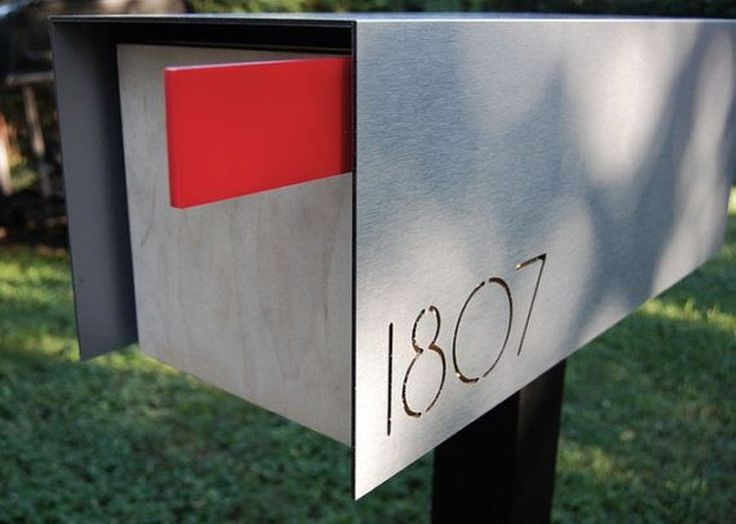 Mid Century Modern Mailbox   The Outside Of The House Remained The Best Way  When The Couple Bought The House, But They Did Not Have A Friend To Make A  New ...