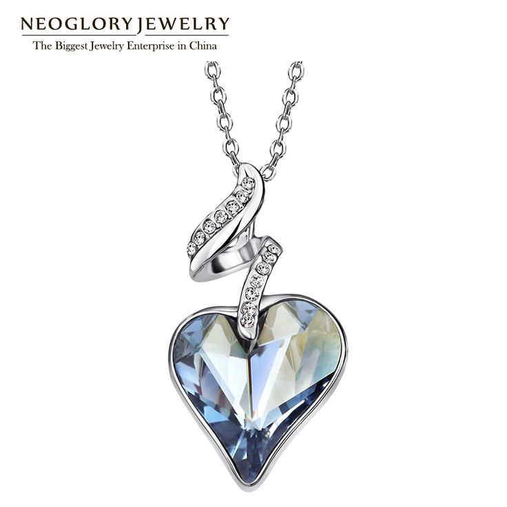 Austrian Crystal Rhinestones Four Color Heart Love Chain Necklaces & Pendants For Women  Gift India Jewelry JS4 HE1 – lolfashion.net