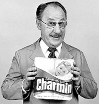 """Please don't squeeze the Charmin!""  Dick Wilson as 'Mr. Whipple'"