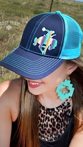 RODEO LIKE A ROCKSTAR- BLUE CAP