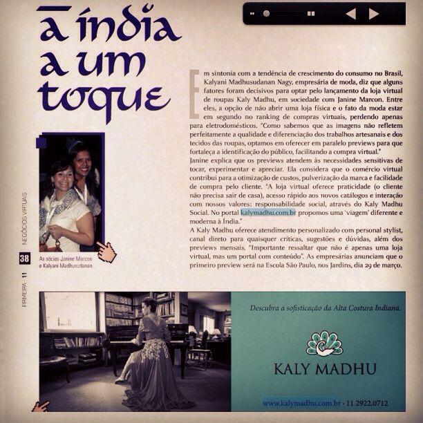 Kaly Madhu na Revista Primeira!!