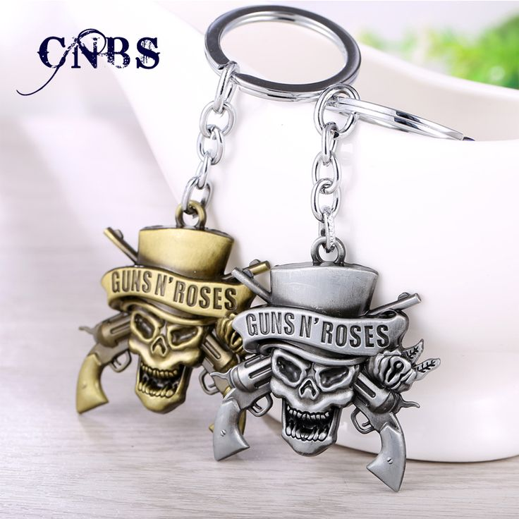 Music Band GnR Guns N' Roses Keychain can Drop-shipping Metal Key Rings For Gift Chaveiro Key chain Jewelry for cars YS10854