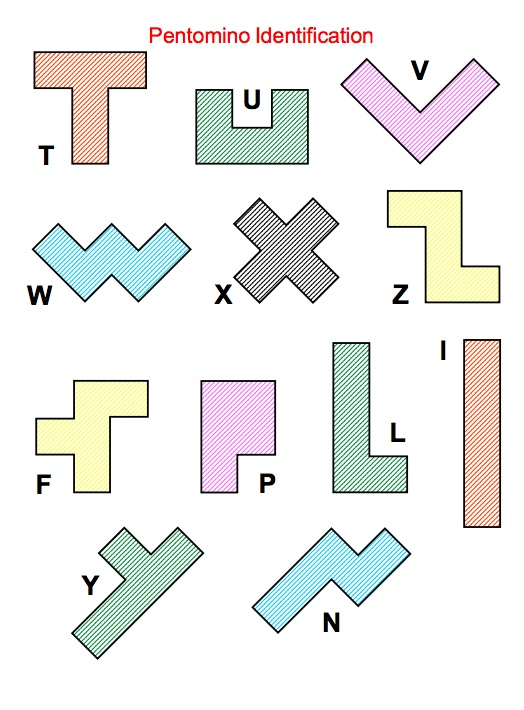 Here's a packet with a variety of problem solving activities (some very advanced) for use with pentominoes.