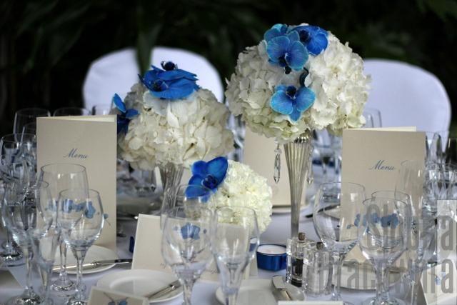niebieski storczyk motyw wesela