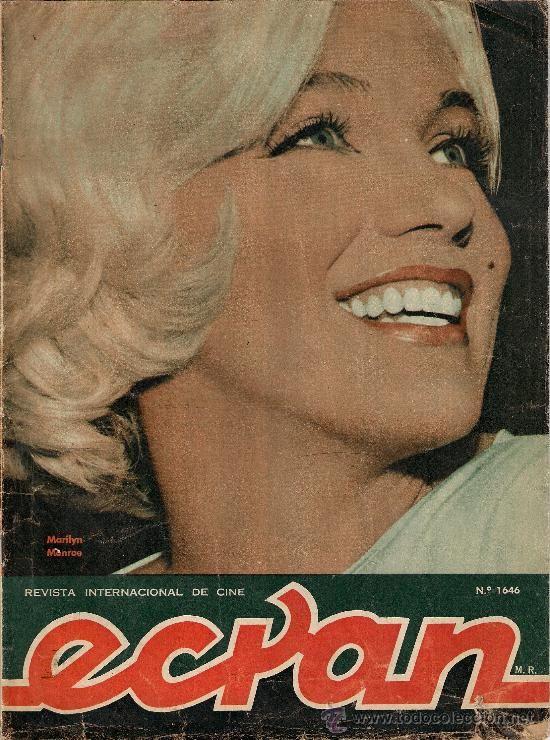 MARILYN MONROE portada de revista chilena ECRAN 1962 (Música - Revistas, Manuales y Cursos)