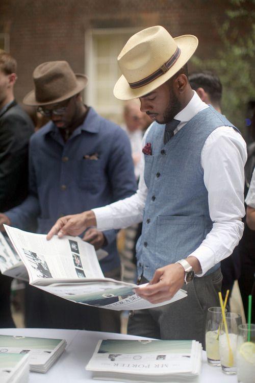 Faça seu estilo no Atelier das Gravatas - atelierdasgravatas.com.br ...no homo..Need that hat...for real reall