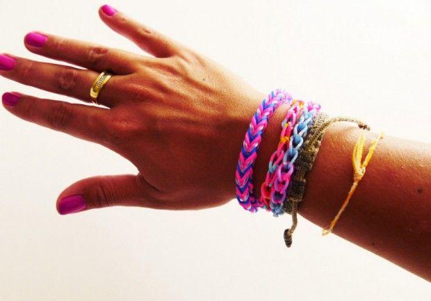 Tuto: comment réaliser un bracelet élastique Rainbow Loom facile? - ELLE