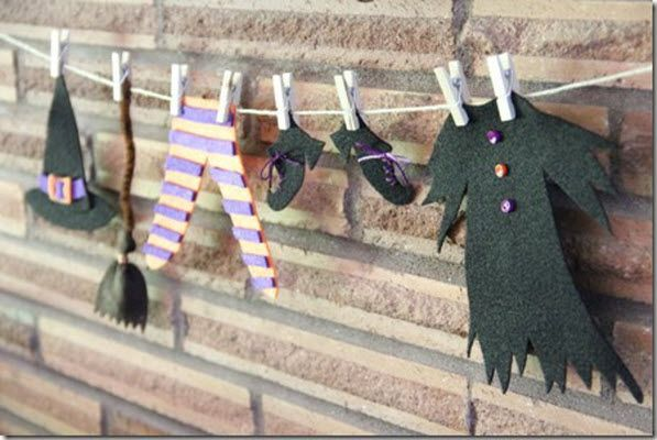 Witch's clothesline - 15 Halloween Decoration and Crafts for Kids - ParentMap