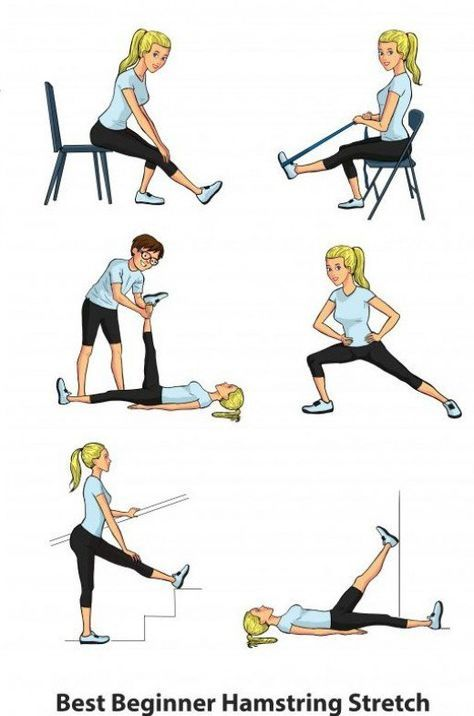 standing hamstring stretch instructions