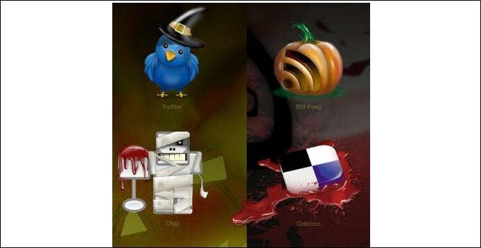 Halloween social-media-icons