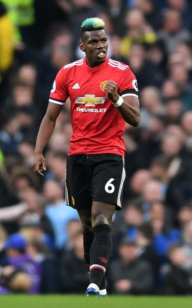 47830340f1a Paul Pogba of Manchester United celebrates after scoring his sides first  goal during the Premier League match between Manchester City and Manchester  United ...