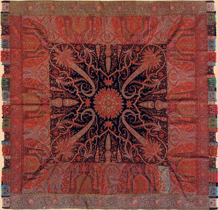 """Kashmiry Shawls Antique Kashmiri Shawl.This is one of the great masterpieces of the early 19th century Circa 1820 Size 67"""" x 67"""" Size 170 x 170cm"""