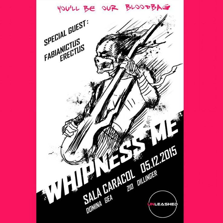 """""""Whipnessme"""". Special  guest: Fabianictus erectus. Ilustration by: Zio Dillinger"""