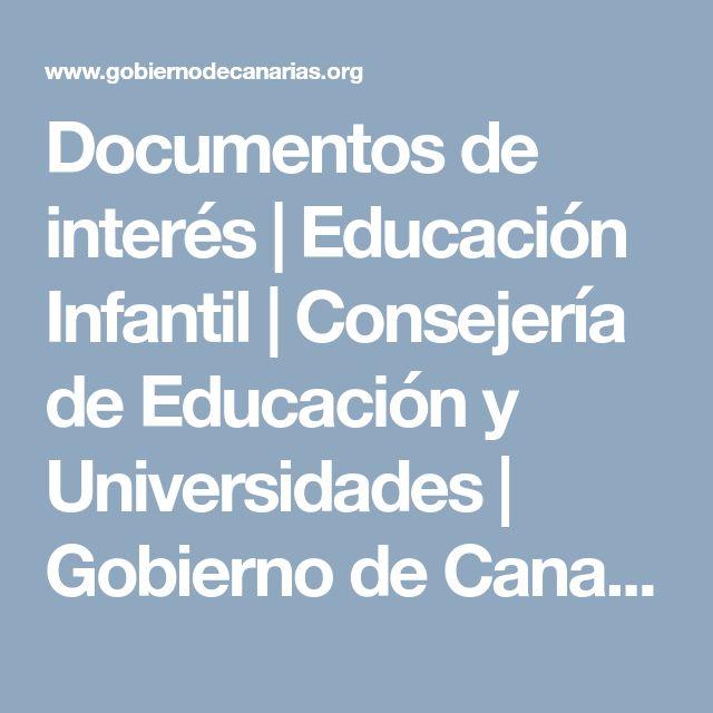 Documentos de interés | Educación Infantil | Consejería de Educación y Universidades | Gobierno de Canarias