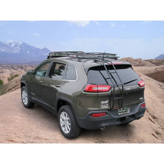 Gobi Stealth Roof Rack 2014+ Jeep Cherokee FREE LADDER, FREE WIND DEFLECTOR, & FREE SHIPPING!Order this Gobi rack and receive a FREE LADDER, FREE WIND DEFLECTOR, and FREE SHIPPING! Gobi USA offers a line of high quality roof racks, ladders and accessories for your Jeep Cherokee. Gobi racks and accessories are proudly made in the USA. Gobi leaves no stone unturned when developing accessories which blend effortlessly with Jeep Cherokee's and their owners. Gobi strive to supply unique…