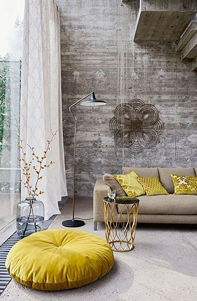 Greys and yellows. For more, visit houseandleisure.co.za