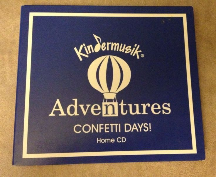 Kindermusik Adventures Home CD - CONFETTI DAYS 44 Songs #Educational