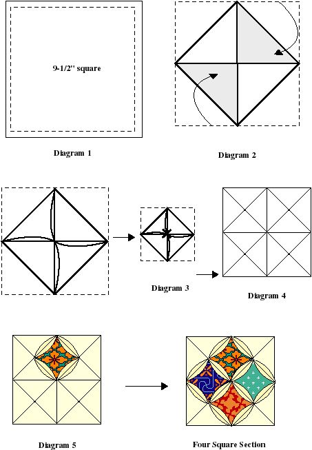 cathedral windows quilts - Google Search