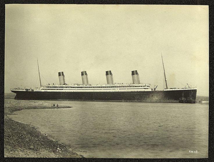 Titanic moored off County Down coast Northern Ireland.