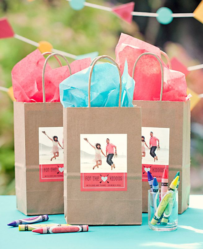 Kid Wedding Favor Goodie Bag from My Own Ideas blog