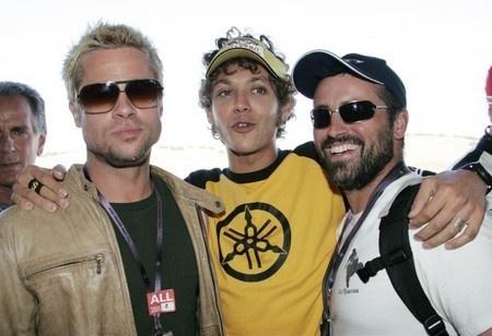 Brad Pitt, Valentino Rossi & Matt LeBlanc